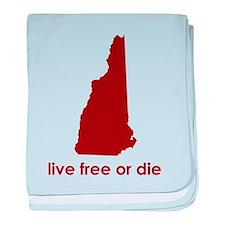 RED Live Free or Die baby blanket