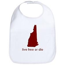 RED Live Free or Die Bib
