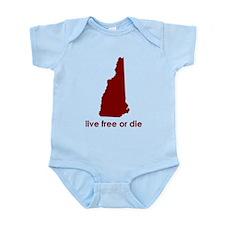 RED Live Free or Die Infant Bodysuit