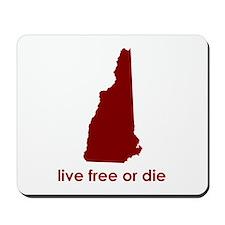 RED Live Free or Die Mousepad