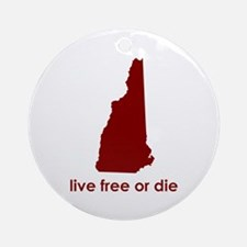 RED Live Free or Die Ornament (Round)