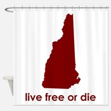 RED Live Free or Die Shower Curtain