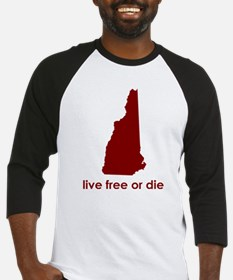 RED Live Free or Die Baseball Jersey