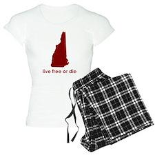 RED Live Free or Die pajamas