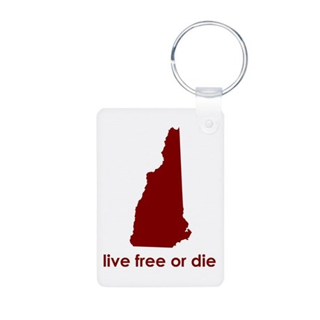 RED Live Free or Die Aluminum Photo Keychain