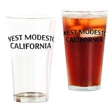West Modesto California Drinking Glass