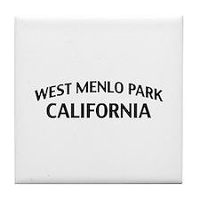 West Menlo Park California Tile Coaster