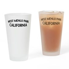 West Menlo Park California Drinking Glass