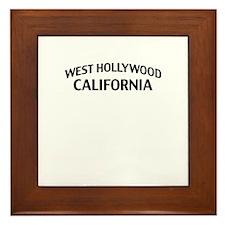 West Hollywood California Framed Tile
