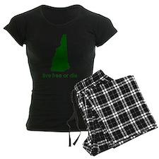 GREEN Live Free or Die Pajamas