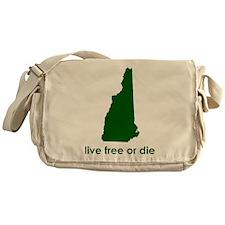 GREEN Live Free or Die Messenger Bag
