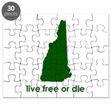 GREEN Live Free or Die Puzzle