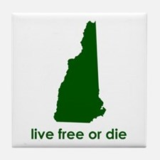 GREEN Live Free or Die Tile Coaster