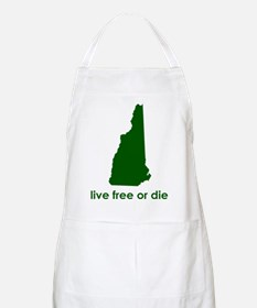 GREEN Live Free or Die Apron
