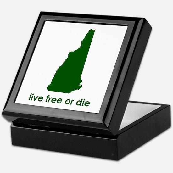 GREEN Live Free or Die Keepsake Box