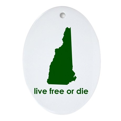 GREEN Live Free or Die Ornament (Oval)