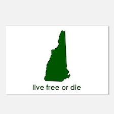 GREEN Live Free or Die Postcards (Package of 8)