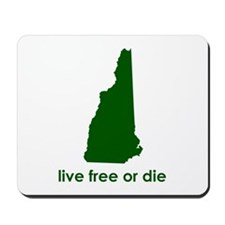 GREEN Live Free or Die Mousepad