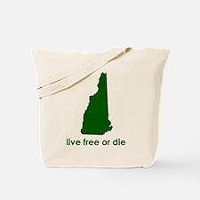GREEN Live Free or Die Tote Bag
