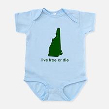 GREEN Live Free or Die Infant Bodysuit