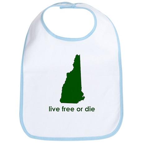 GREEN Live Free or Die Bib