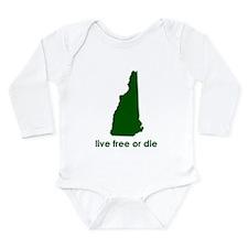 GREEN Live Free or Die Long Sleeve Infant Bodysuit