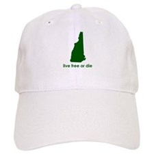 GREEN Live Free or Die Baseball Cap