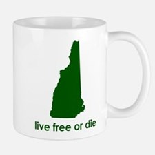 GREEN Live Free or Die Mug