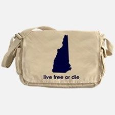 BLUE Live Free or Die Messenger Bag