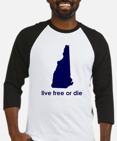 BLUE Live Free or Die Baseball Jersey