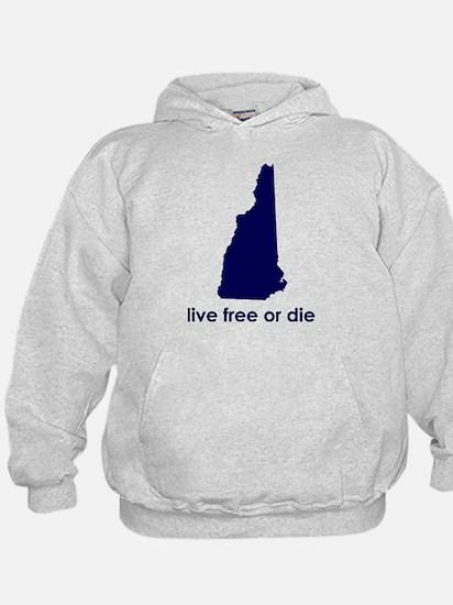 BLUE Live Free or Die Hoody