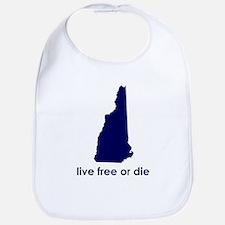 BLUE Live Free or Die Bib