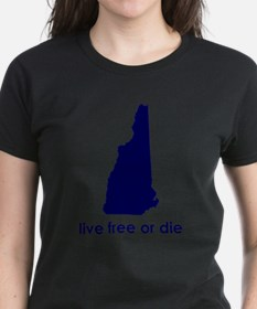BLUE Live Free or Die Tee