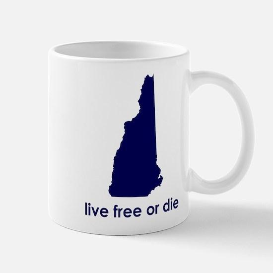 BLUE Live Free or Die Mug