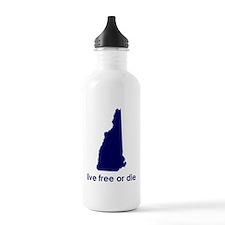 BLUE Live Free or Die Water Bottle