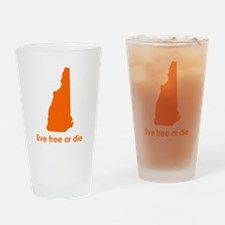 ORANGE Live Free or Die Drinking Glass