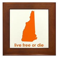 ORANGE Live Free or Die Framed Tile