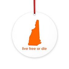 ORANGE Live Free or Die Ornament (Round)