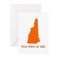 ORANGE Live Free or Die Greeting Cards (Pk of 10)