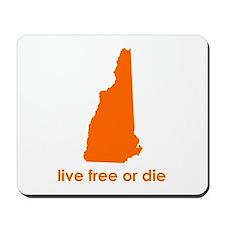ORANGE Live Free or Die Mousepad