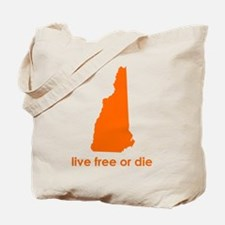 ORANGE Live Free or Die Tote Bag