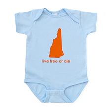 ORANGE Live Free or Die Infant Bodysuit