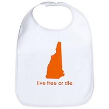 ORANGE Live Free or Die Bib