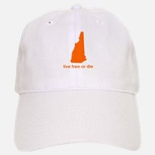 ORANGE Live Free or Die Baseball Baseball Cap