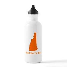 ORANGE Live Free or Die Water Bottle