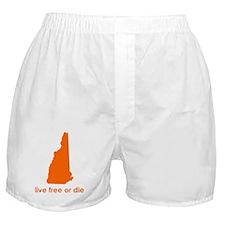 ORANGE Live Free or Die Boxer Shorts