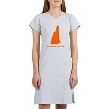 ORANGE Live Free or Die Women's Nightshirt
