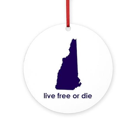 PURPLE Live Free or Die Ornament (Round)