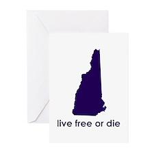 PURPLE Live Free or Die Greeting Cards (Pk of 10)