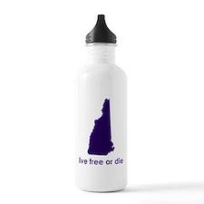 PURPLE Live Free or Die Water Bottle